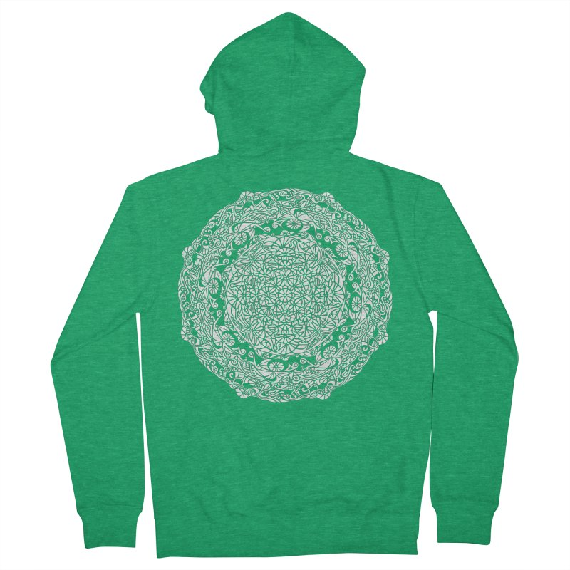 On the Vine (White) Men's Zip-Up Hoody by tomcornish's Artist Shop