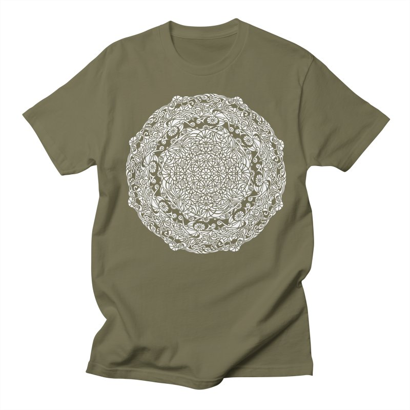 On the Vine (White) Men's Regular T-Shirt by tomcornish's Artist Shop