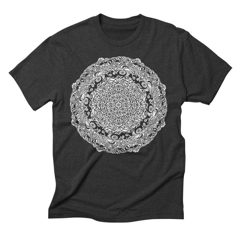 On the Vine (White) Men's Triblend T-Shirt by tomcornish's Artist Shop