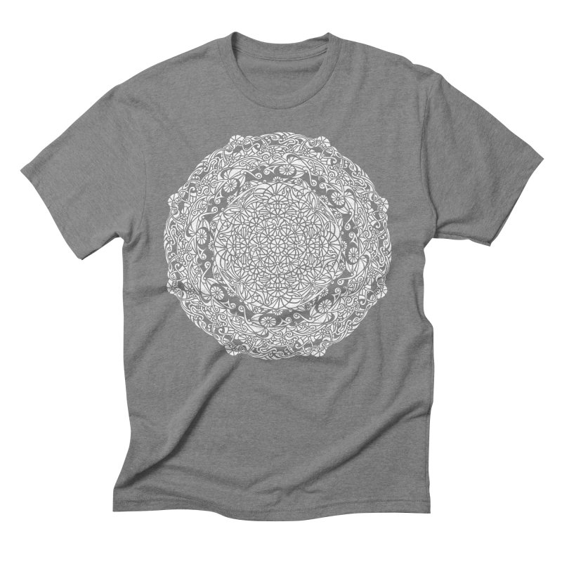 On the Vine (White) Men's Triblend T-Shirt by tomcornish's Artist Shop