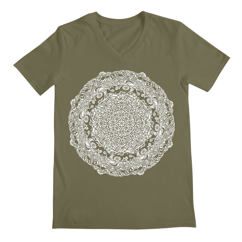 On the Vine (White) Men's Regular V-Neck by tomcornish's Artist Shop