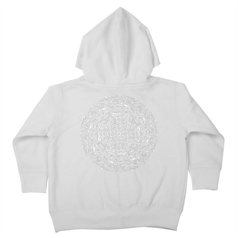 On the Vine (White) Kids Toddler Zip-Up Hoody by tomcornish's Artist Shop