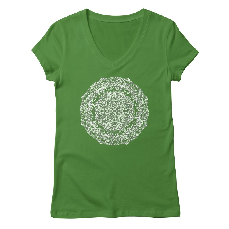 On the Vine (White) Women's V-Neck by tomcornish's Artist Shop