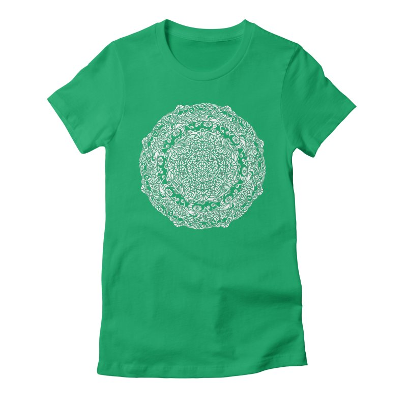 On the Vine (White) Women's Fitted T-Shirt by tomcornish's Artist Shop