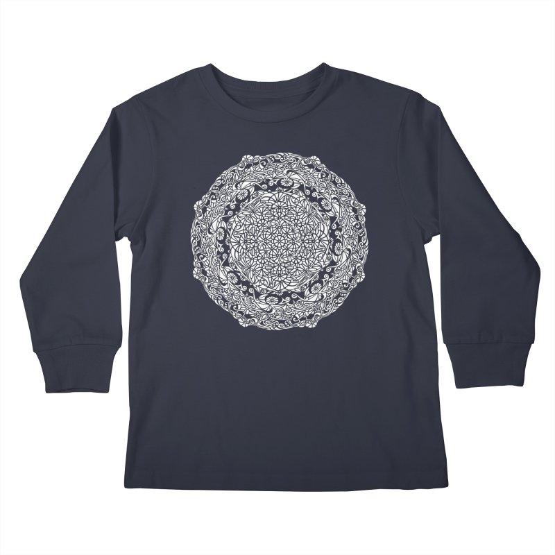 On the Vine (White) Kids Longsleeve T-Shirt by tomcornish's Artist Shop