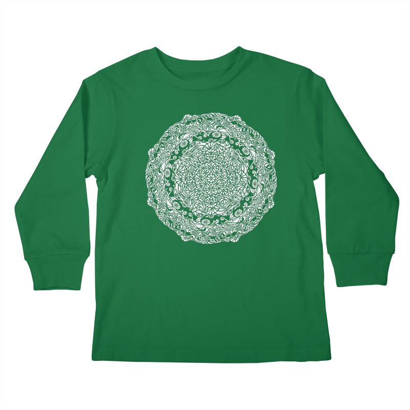 On the Vine (White) Kids Longsleeve T-Shirt by tomcornish's Artist Shop