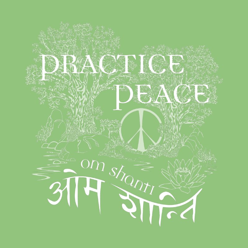 Practice Peace Men's T-Shirt by tomcornish's Artist Shop