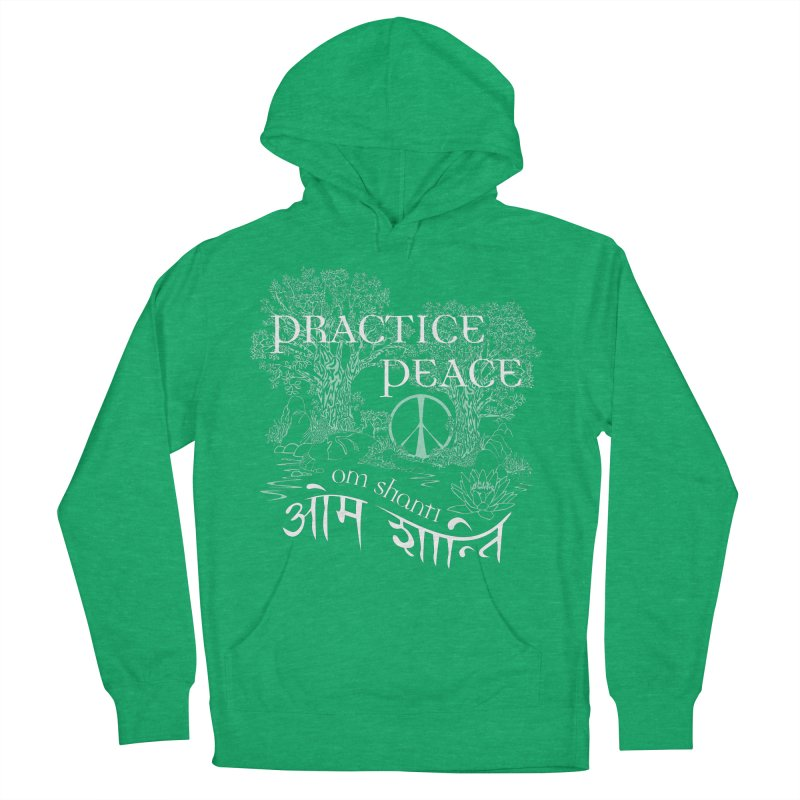 Practice Peace Men's French Terry Pullover Hoody by tomcornish's Artist Shop