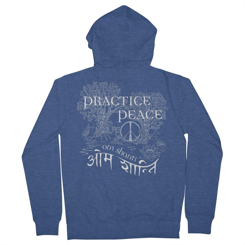 Practice Peace Women's Zip-Up Hoody by tomcornish's Artist Shop