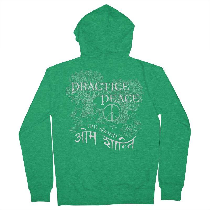 Practice Peace Men's Zip-Up Hoody by tomcornish's Artist Shop