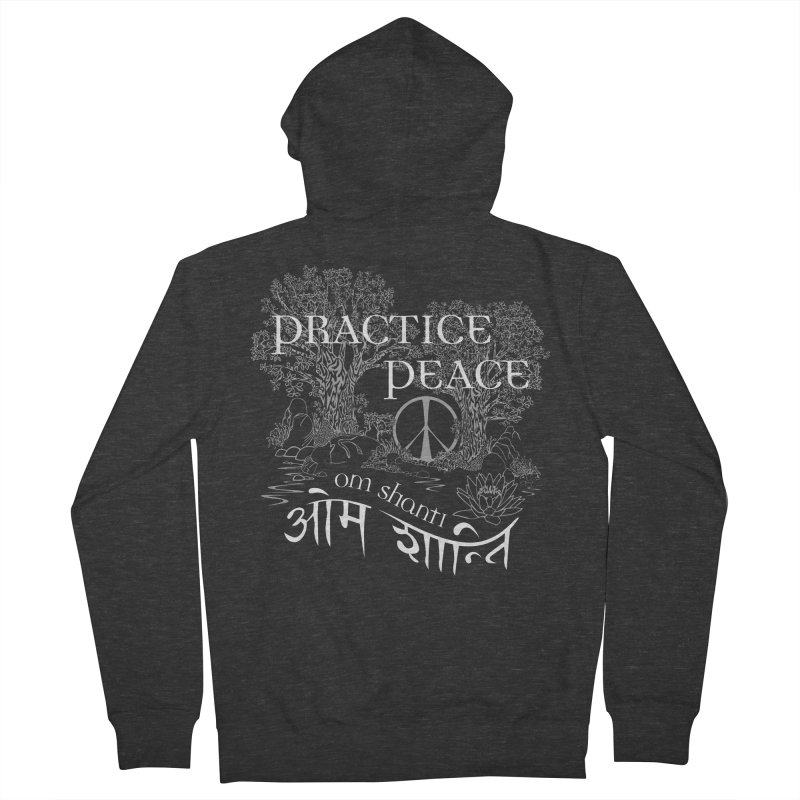 Practice Peace Men's French Terry Zip-Up Hoody by tomcornish's Artist Shop