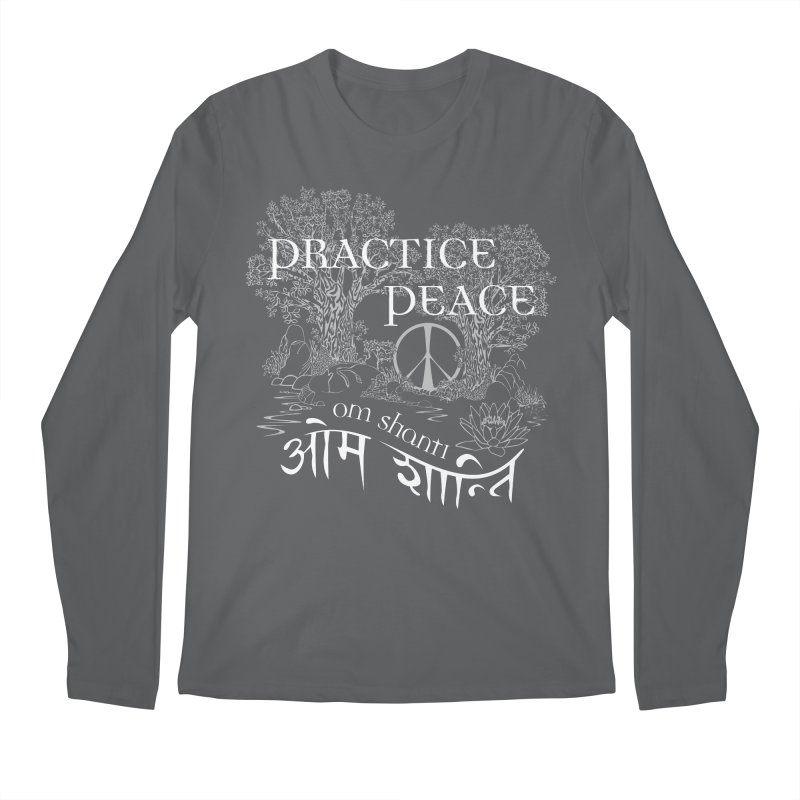 Practice Peace Men's Regular Longsleeve T-Shirt by tomcornish's Artist Shop