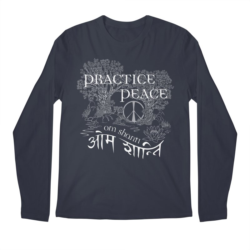 Practice Peace Men's Regular Longsleeve T-Shirt by tomcornish's Artist Shop