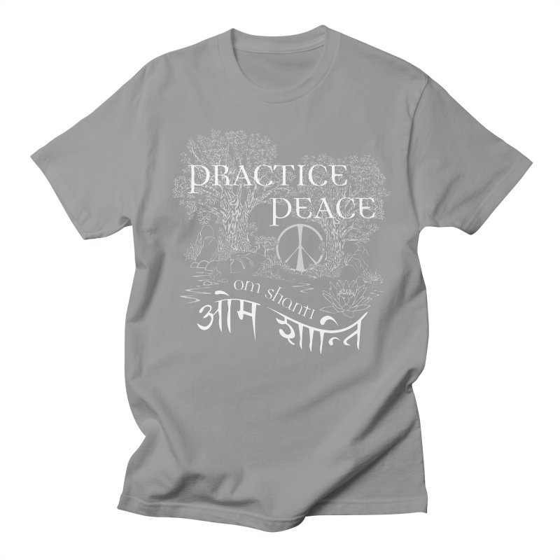 Practice Peace Men's Regular T-Shirt by tomcornish's Artist Shop