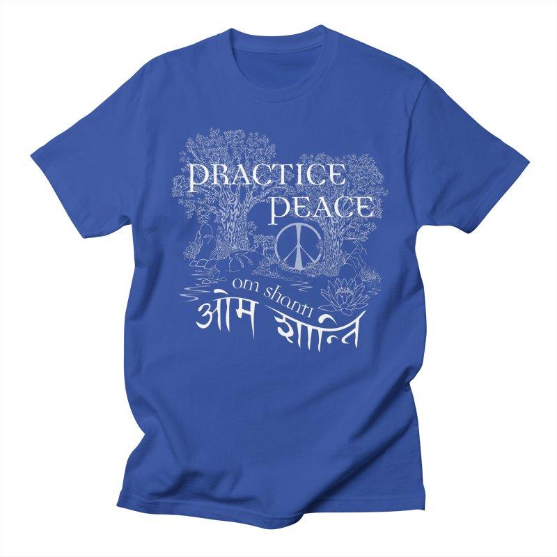 Practice Peace Men's Regular T-Shirt by tomcornish's Artist Shop