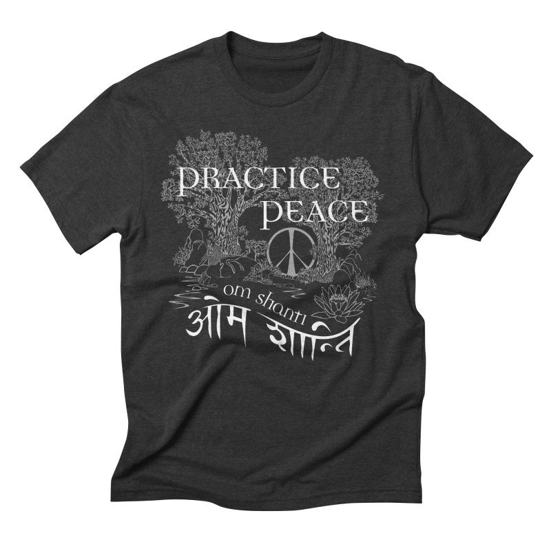 Practice Peace Men's Triblend T-Shirt by tomcornish's Artist Shop