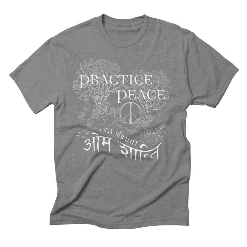 Practice Peace Men's Triblend T-Shirt by tomcornish's Artist Shop