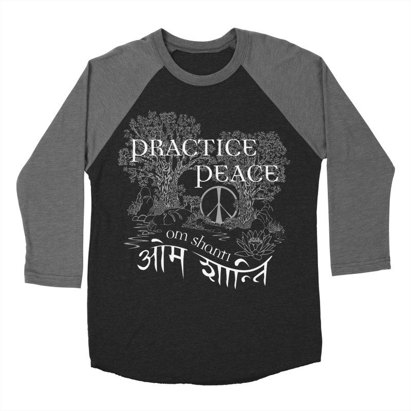 Practice Peace Men's Baseball Triblend Longsleeve T-Shirt by tomcornish's Artist Shop