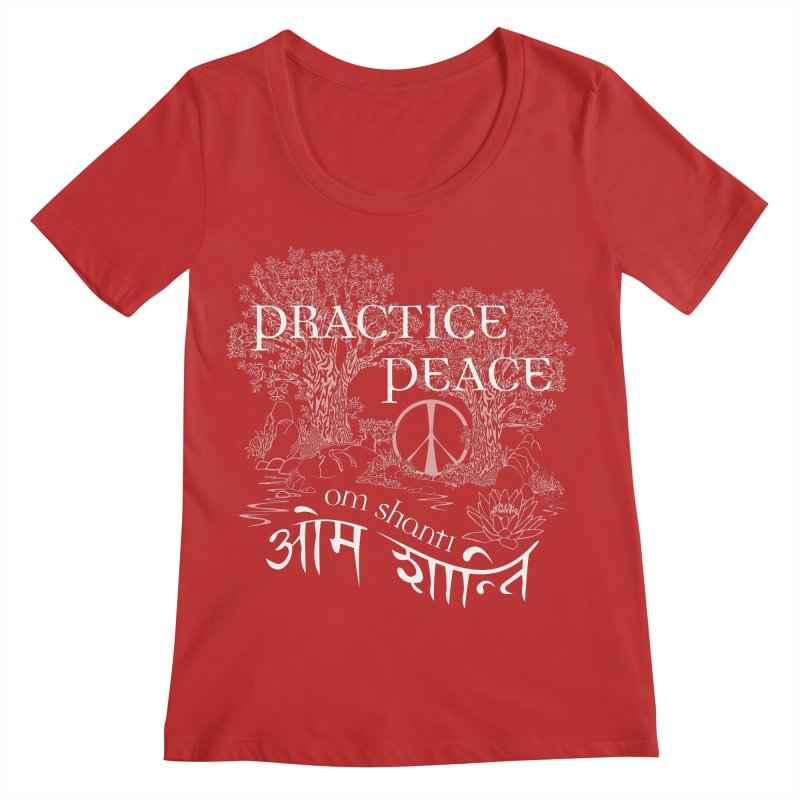 Practice Peace Women's Scoop Neck by tomcornish's Artist Shop
