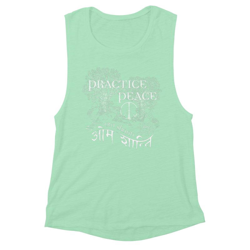 Practice Peace Women's Muscle Tank by tomcornish's Artist Shop