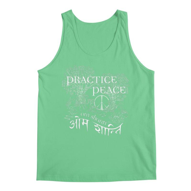 Practice Peace Men's Tank by tomcornish's Artist Shop