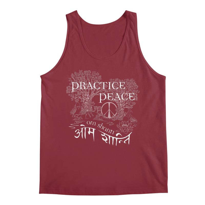Practice Peace Men's Tank by tomcornish's Artist Shop