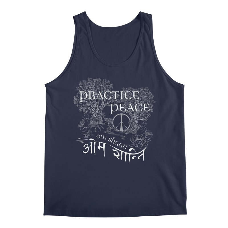 Practice Peace Men's Regular Tank by tomcornish's Artist Shop