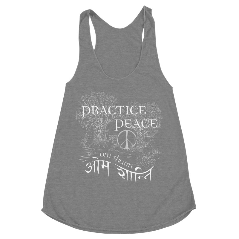 Practice Peace Women's Racerback Triblend Tank by tomcornish's Artist Shop
