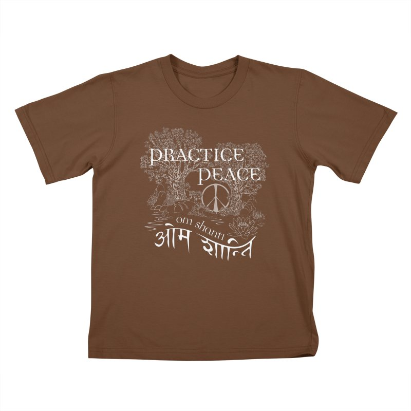 Practice Peace Kids T-Shirt by tomcornish's Artist Shop