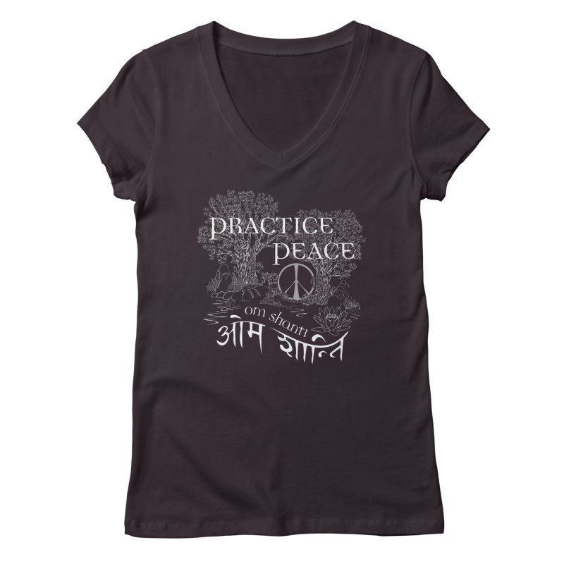 Practice Peace Women's Regular V-Neck by tomcornish's Artist Shop