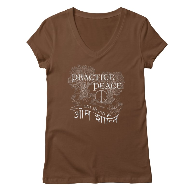 Practice Peace Women's V-Neck by tomcornish's Artist Shop