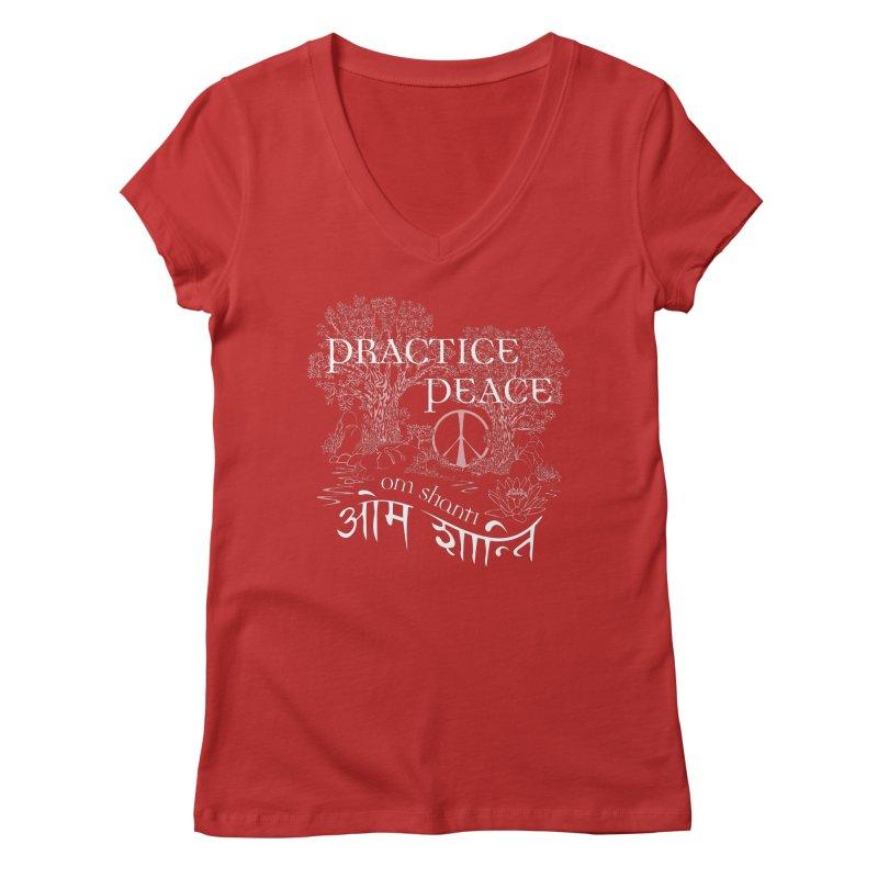 Practice Peace Women's Regular V-Neck by tomcornish's Artist Shop