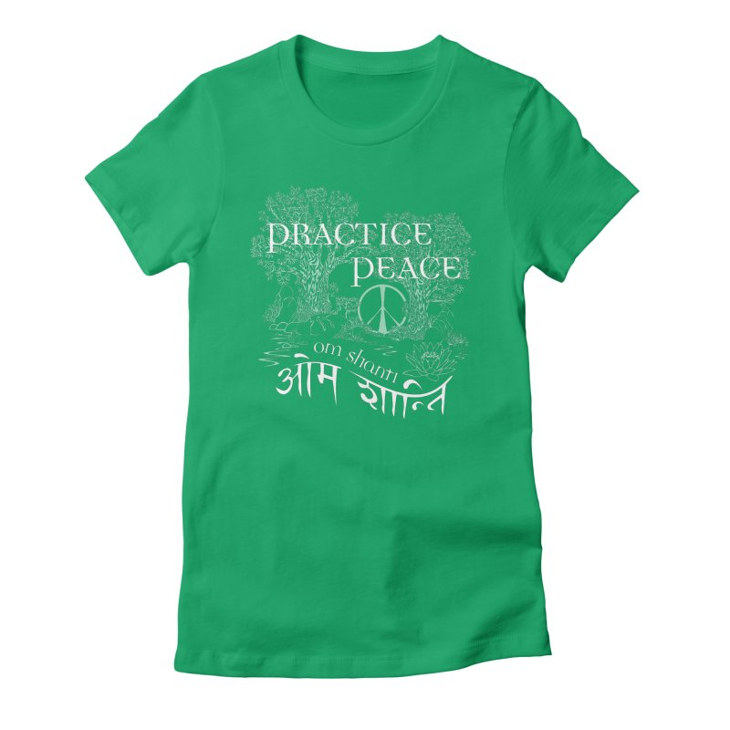 Practice Peace Women's Fitted T-Shirt by tomcornish's Artist Shop