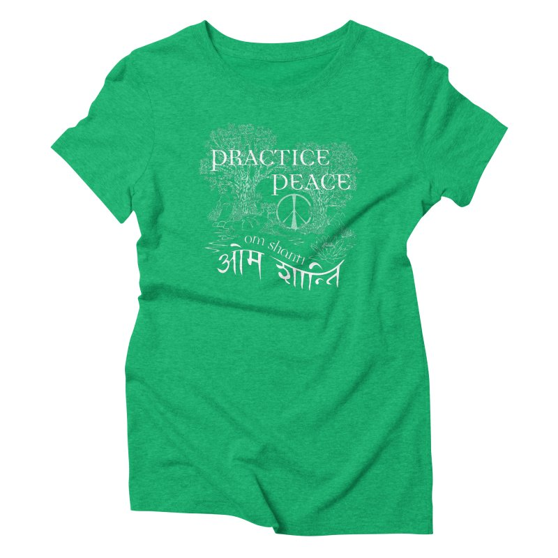Practice Peace Women's Triblend T-Shirt by tomcornish's Artist Shop