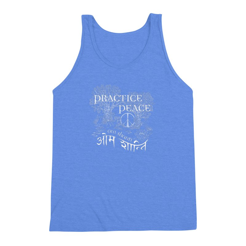 Practice Peace Men's Triblend Tank by tomcornish's Artist Shop