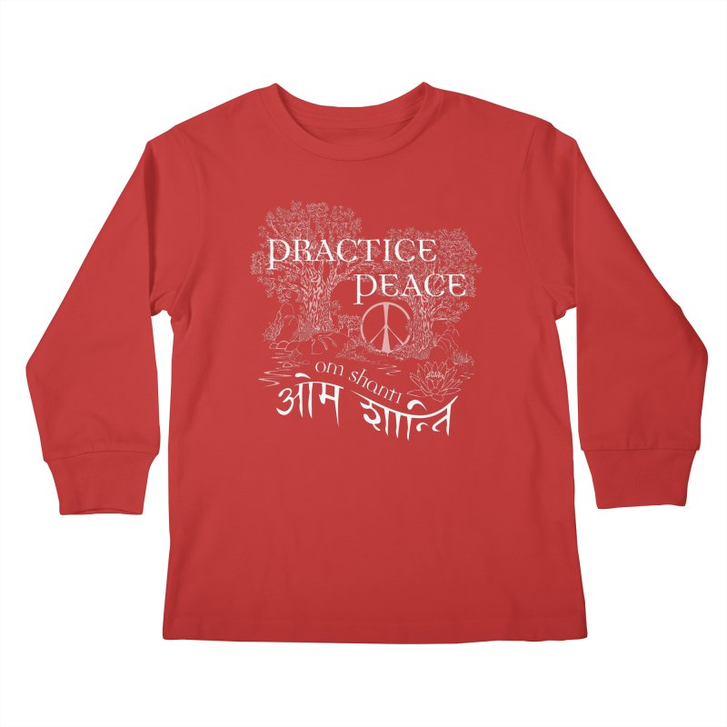Practice Peace Kids Longsleeve T-Shirt by tomcornish's Artist Shop