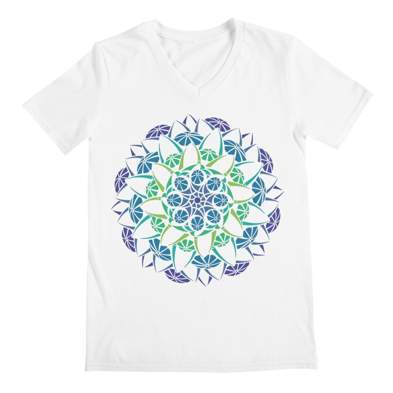 Blooming Men's Regular V-Neck by tomcornish's Artist Shop