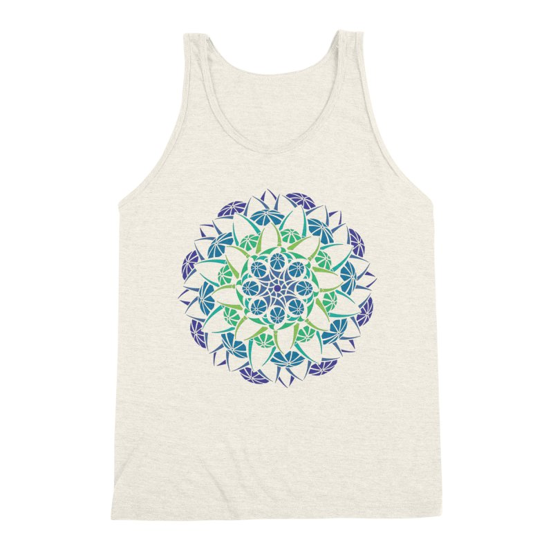 Blooming Men's Triblend Tank by tomcornish's Artist Shop
