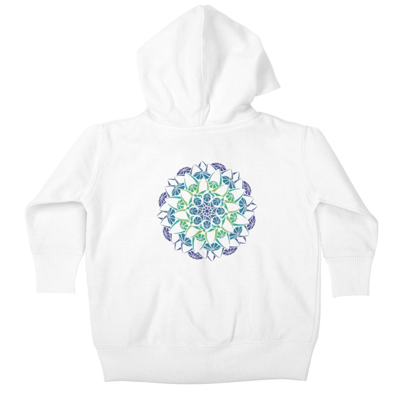Blooming Kids Baby Zip-Up Hoody by tomcornish's Artist Shop