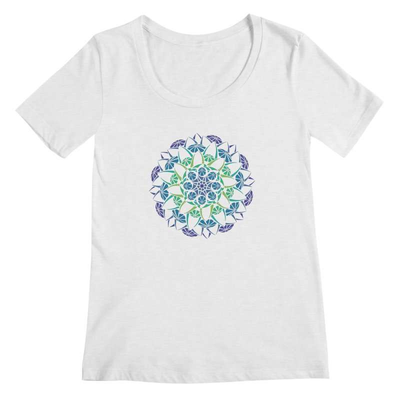 Blooming Women's Regular Scoop Neck by tomcornish's Artist Shop
