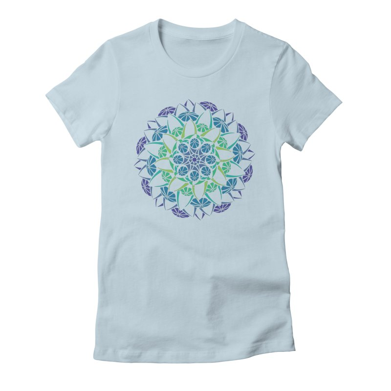 Blooming Women's Fitted T-Shirt by tomcornish's Artist Shop