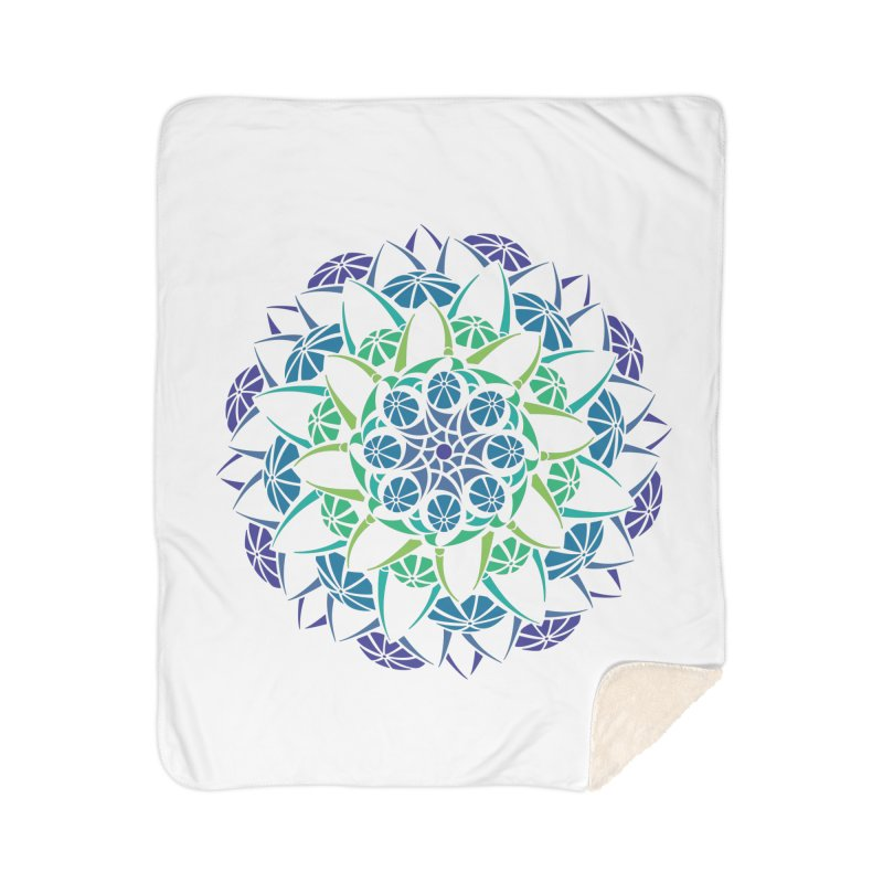 Blooming Home Sherpa Blanket Blanket by tomcornish's Artist Shop