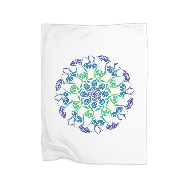 Blooming Home Fleece Blanket Blanket by tomcornish's Artist Shop
