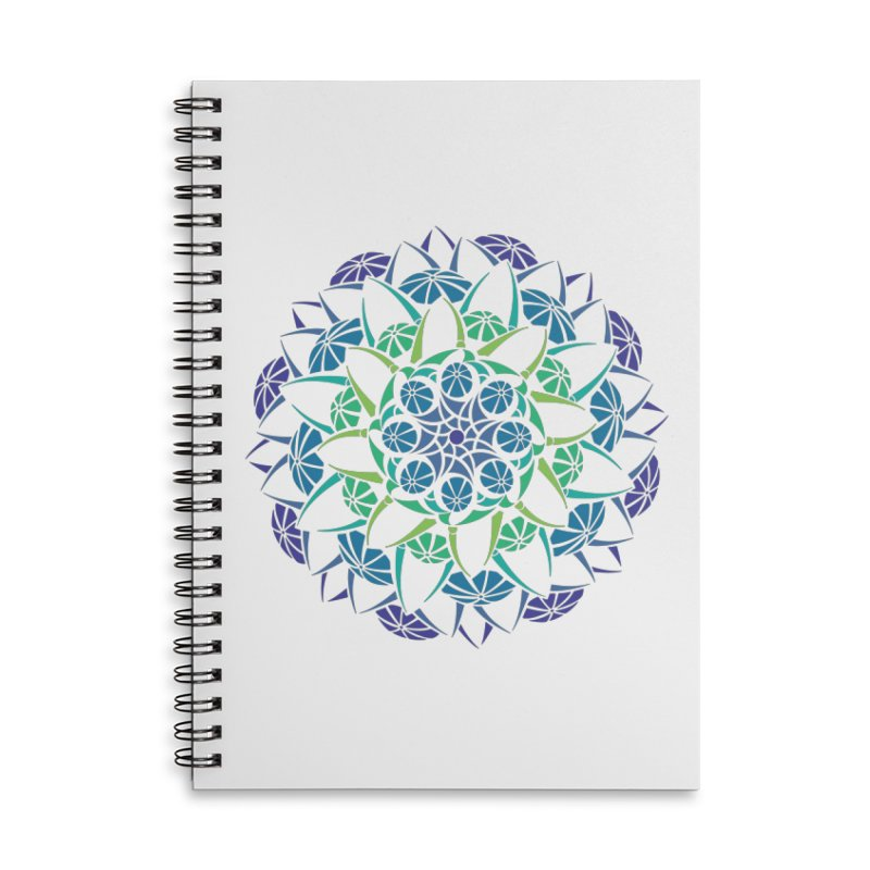 Blooming Accessories Lined Spiral Notebook by tomcornish's Artist Shop