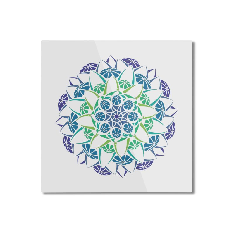 Blooming Home Mounted Aluminum Print by tomcornish's Artist Shop
