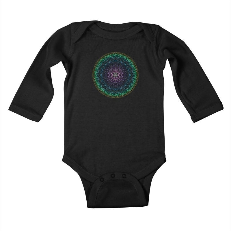 Doodle 13 Reversed Kids Baby Longsleeve Bodysuit by tomcornish's Artist Shop