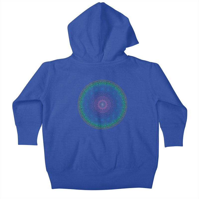 Doodle 13 Reversed Kids Baby Zip-Up Hoody by tomcornish's Artist Shop