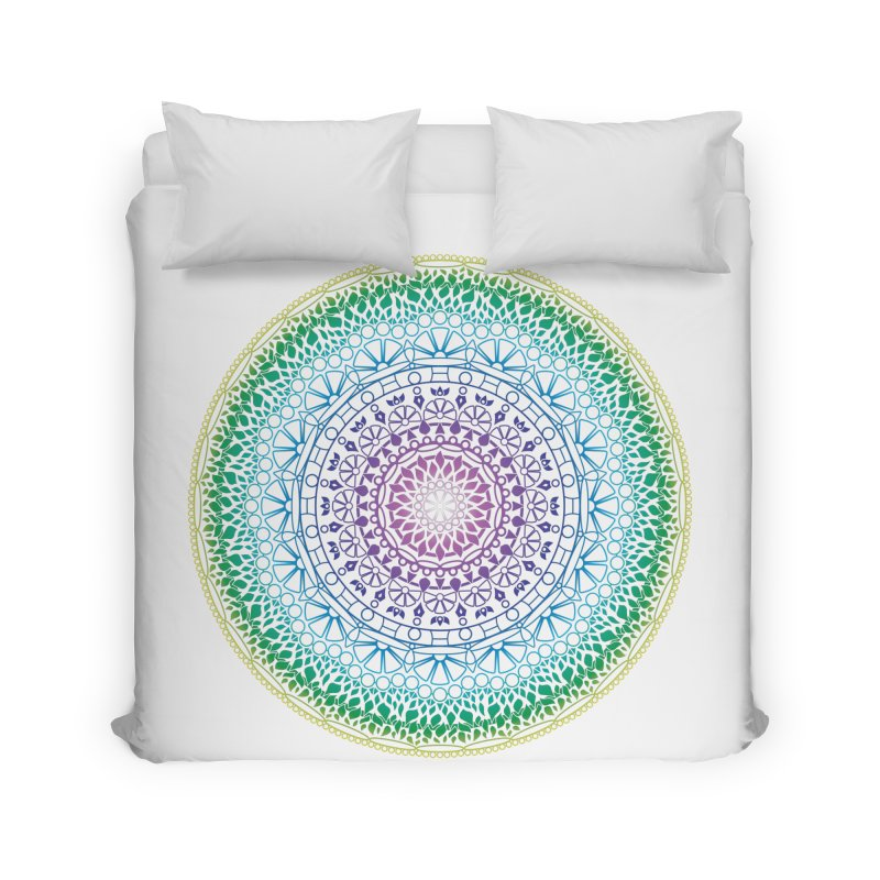 Doodle 13 Reversed Home Duvet by tomcornish's Artist Shop