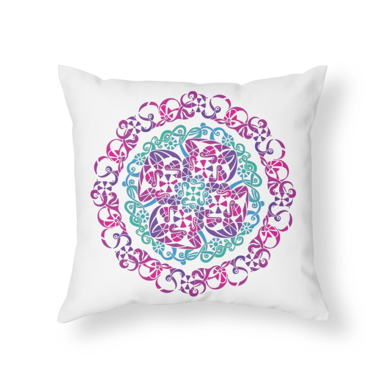 Detailed Home Throw Pillow by tomcornish's Artist Shop