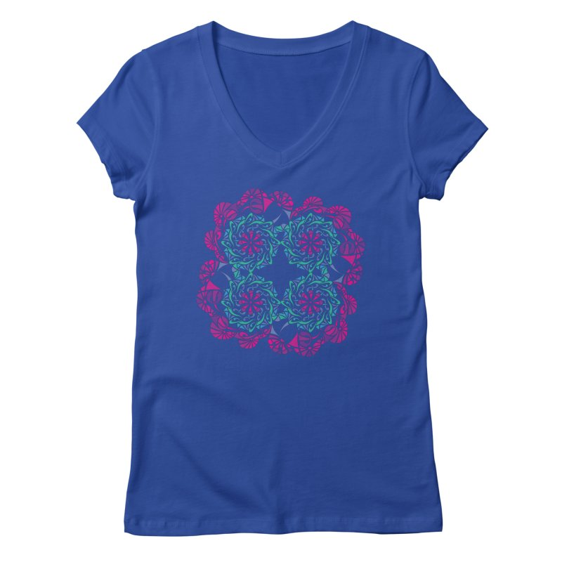 Shuffle Women's Regular V-Neck by tomcornish's Artist Shop